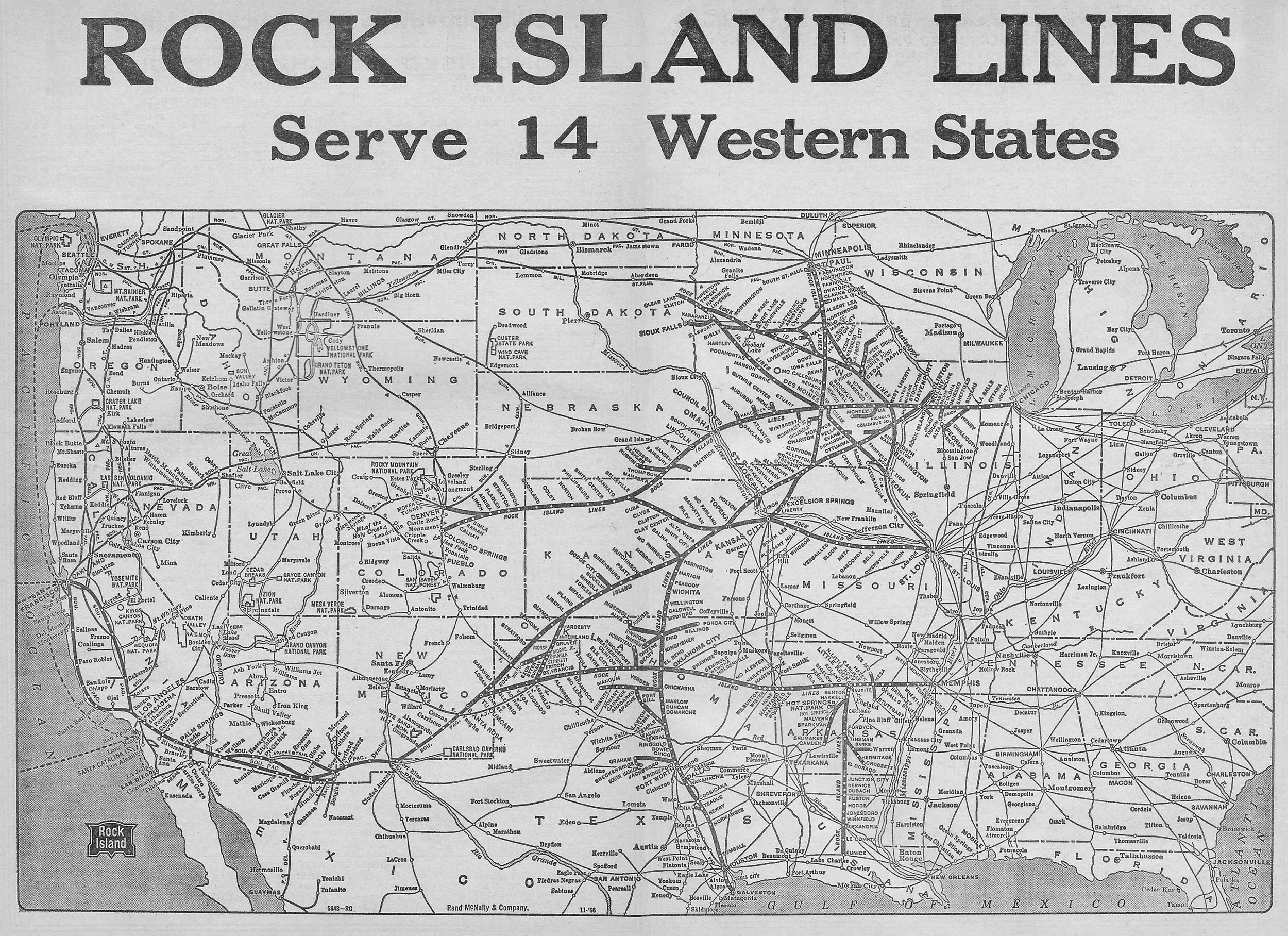 Chicago, Rock Island and Pacific Railroad, The Rock Island Line on southern pacific railroad map, union pacific division map, northern pacific railway map, 1982 kansas railroad map, kansas state land map, southern pacific system map, atlantic and pacific railroad map, kansas pacific railroad workers, union pacific railroad map, central pacific railroad map, kansas pacific railroad route, missouri pacific railroad map, kansas tornado map, kansas pacific railroad history, mopac map, kansas on usa map, current kansas railroad map, union pacific system map,