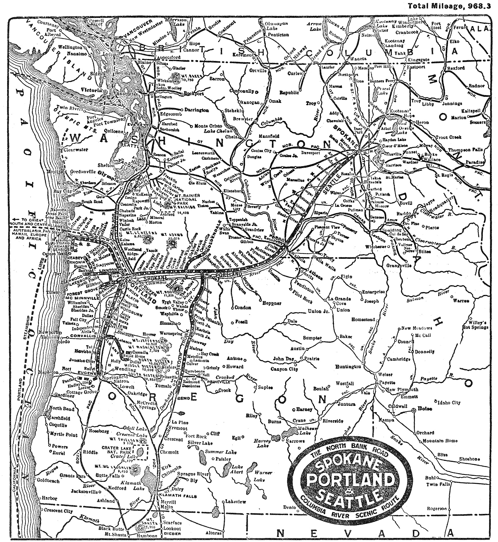 Spokane, Portland and Seattle Railway on map of trains in illinois, map of trains in barcelona, map of trains in paris, map of trains in new york, map of trains in tokyo, map of trains in boston,