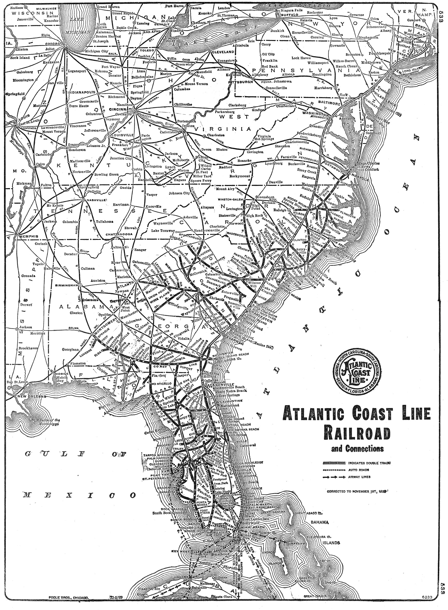 Atlantic Coast Florida Map.Atlantic Coast Line Railroad