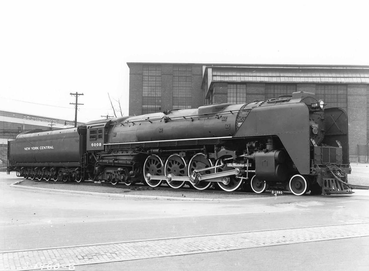 New York Central Niagra 4-8-4 photo Steam Locomotive 6008 Train NYC Railroad