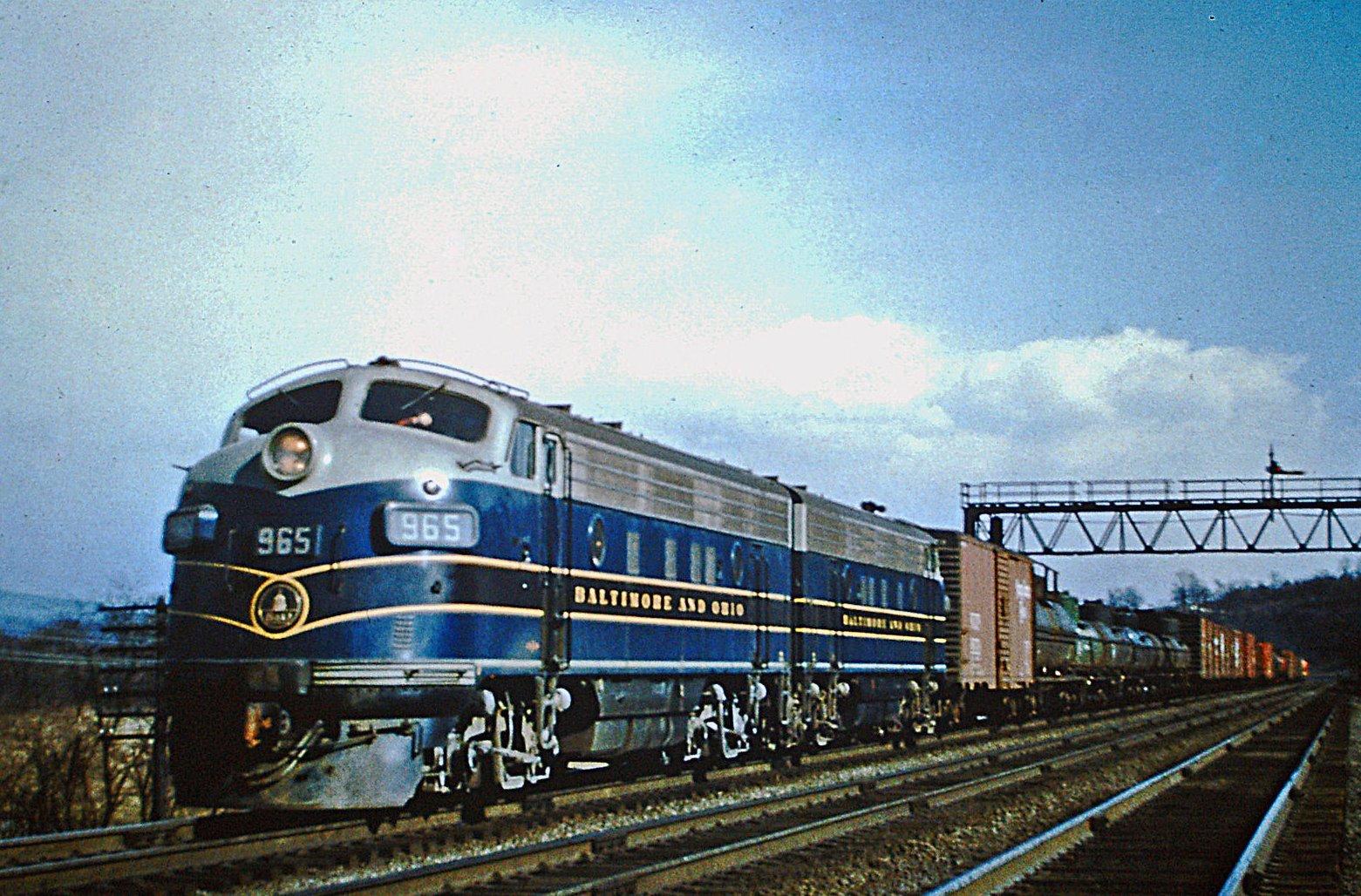 Chesapeake /& Ohio C/&O Railway Baltimore B/&O Railroad RR Public Timetable 1963