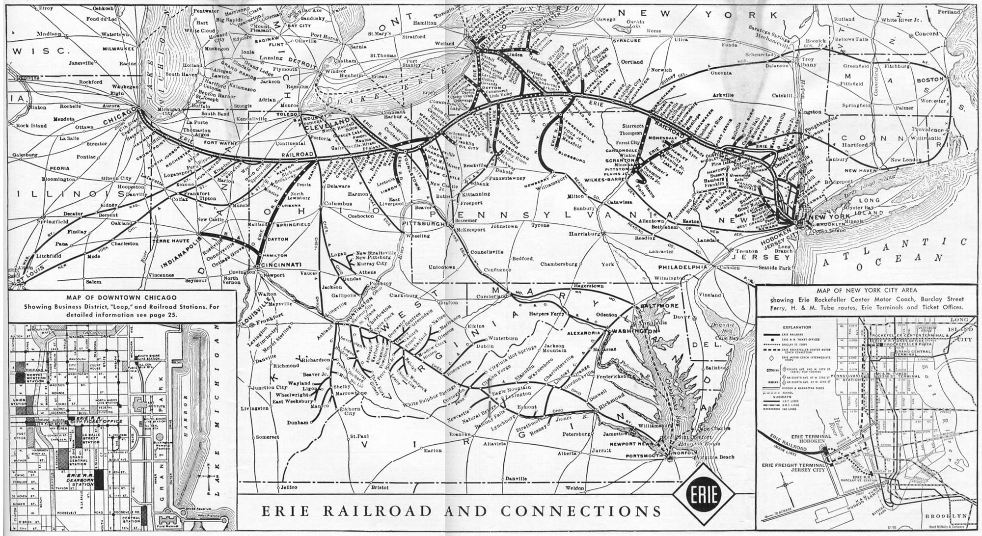 The Erie Railroad - Us railroad traffic map