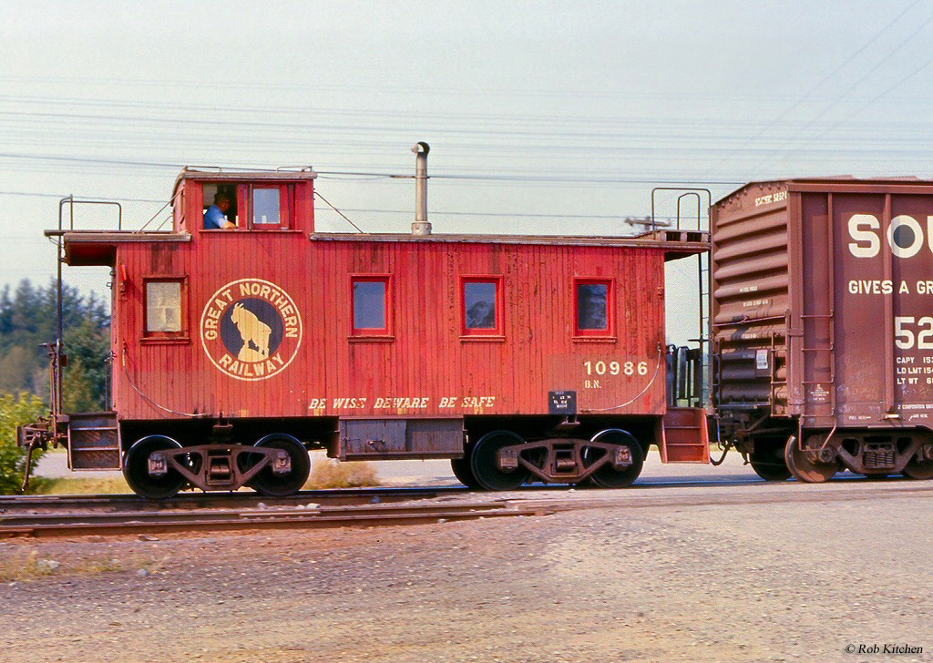 Wooden Rail Cars ~ Caboose