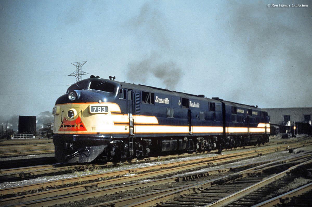 The Louisville And Nashville Railroad - Atlanta to nashville rail on map of us