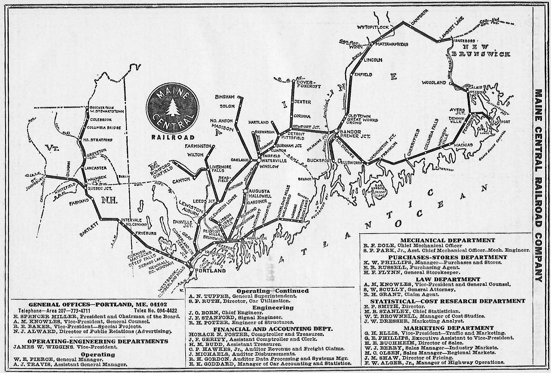 The Maine Central Railroad - Us railway system map