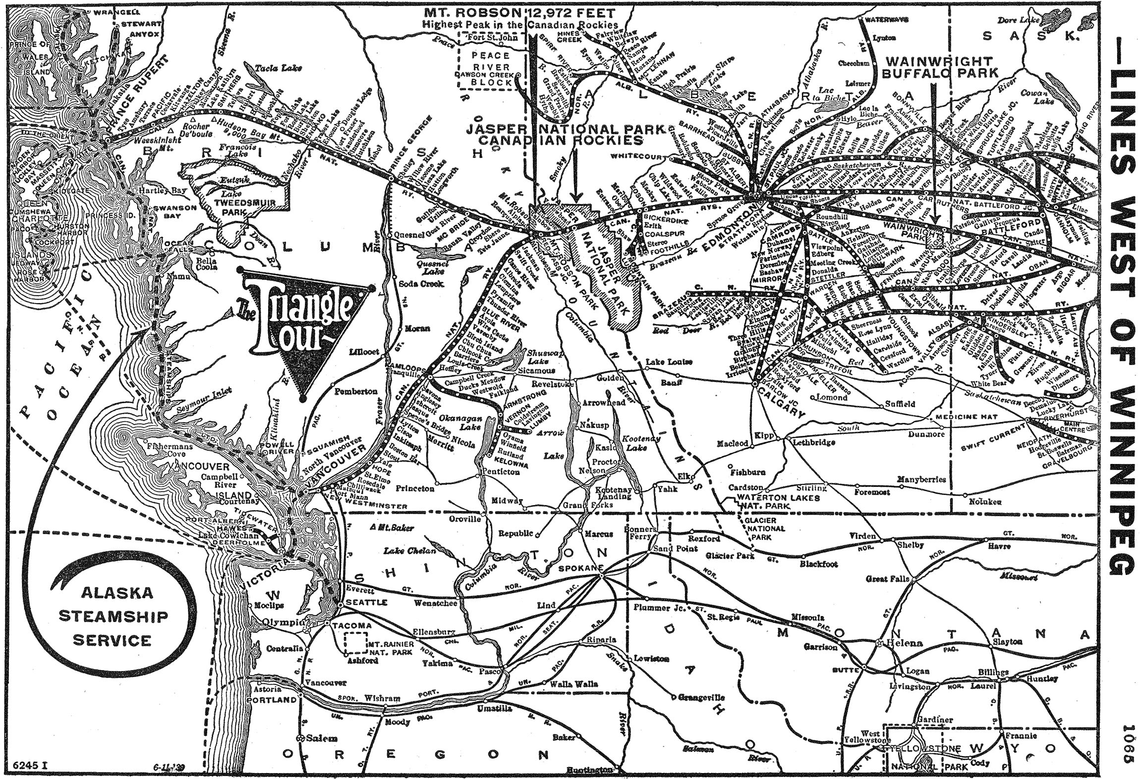 The Canadian National Railway Cn Rail Map Us