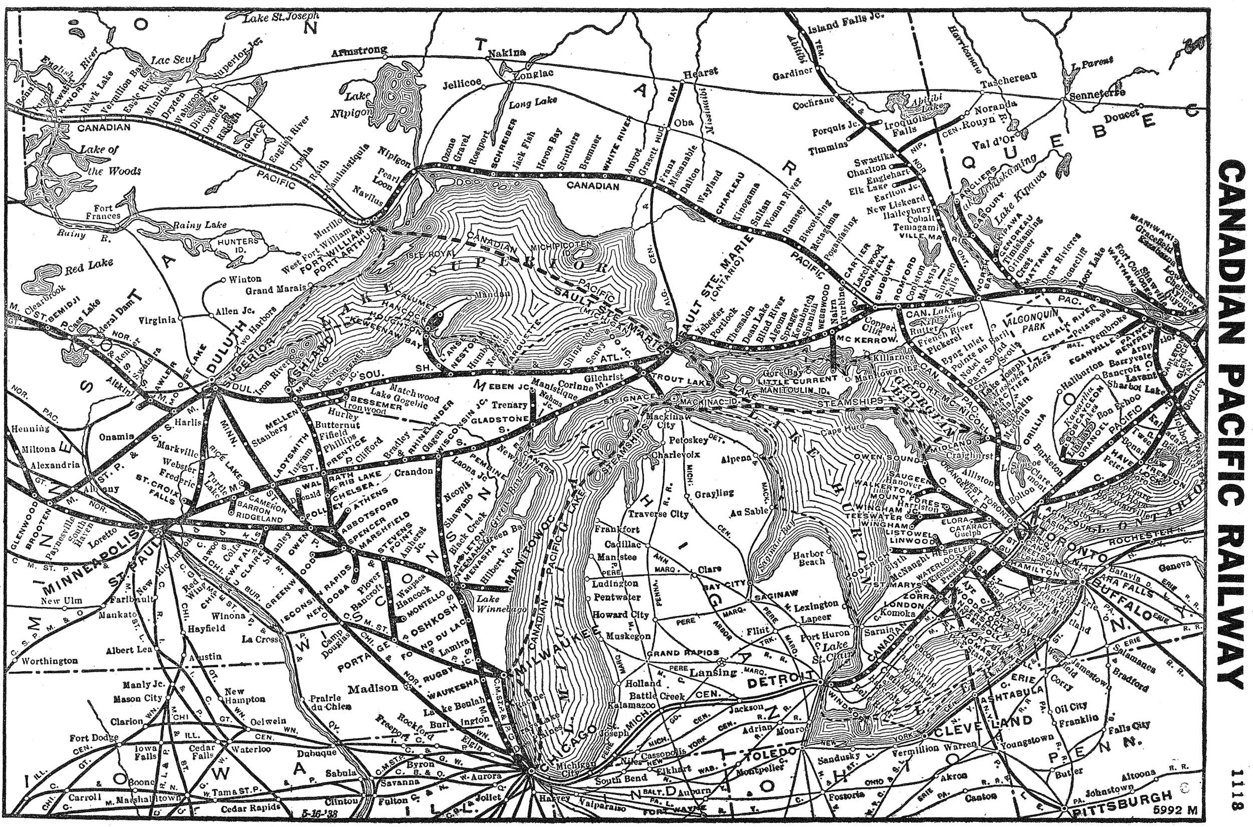 The Canadian Pacific Railway - Map of us railroads in 1900