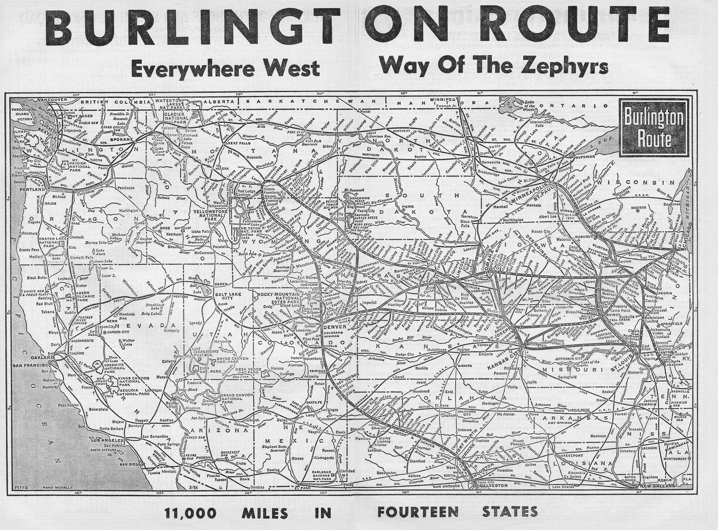 The Chicago Burlington and Quincy Railroad Way of the Zephyrs