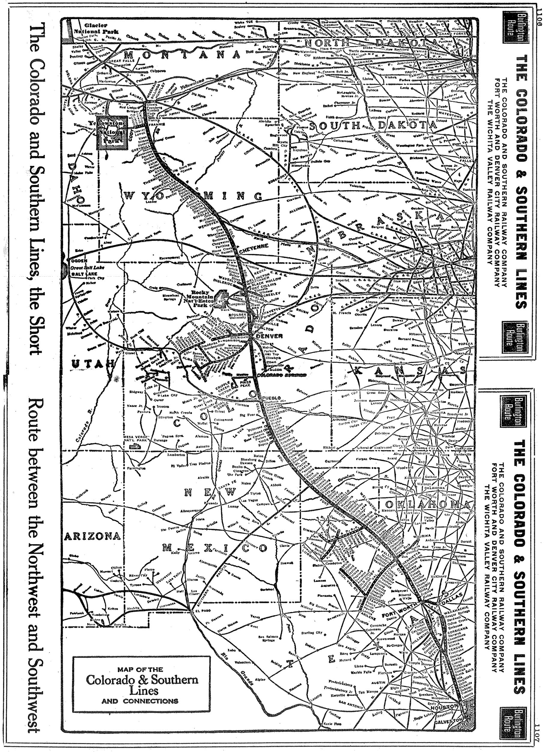 The Colorado And Southern Railway - Map of southern colorado