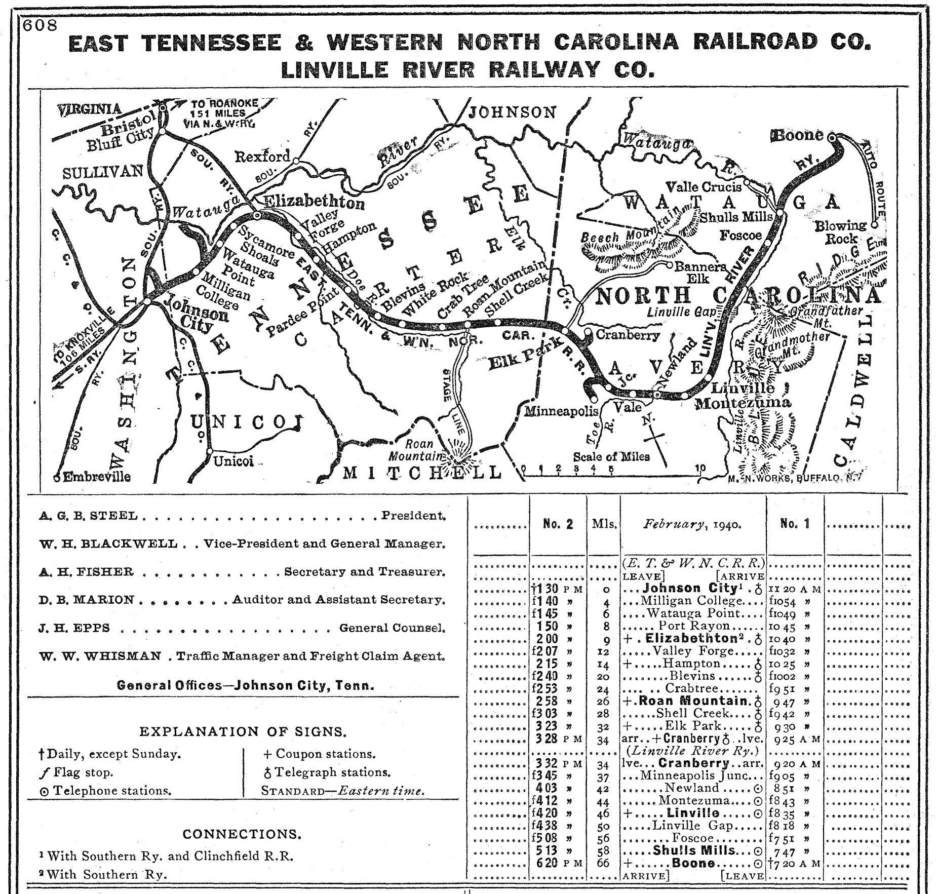 The East Tennessee Western North Carolina Railroad - East tennessee map