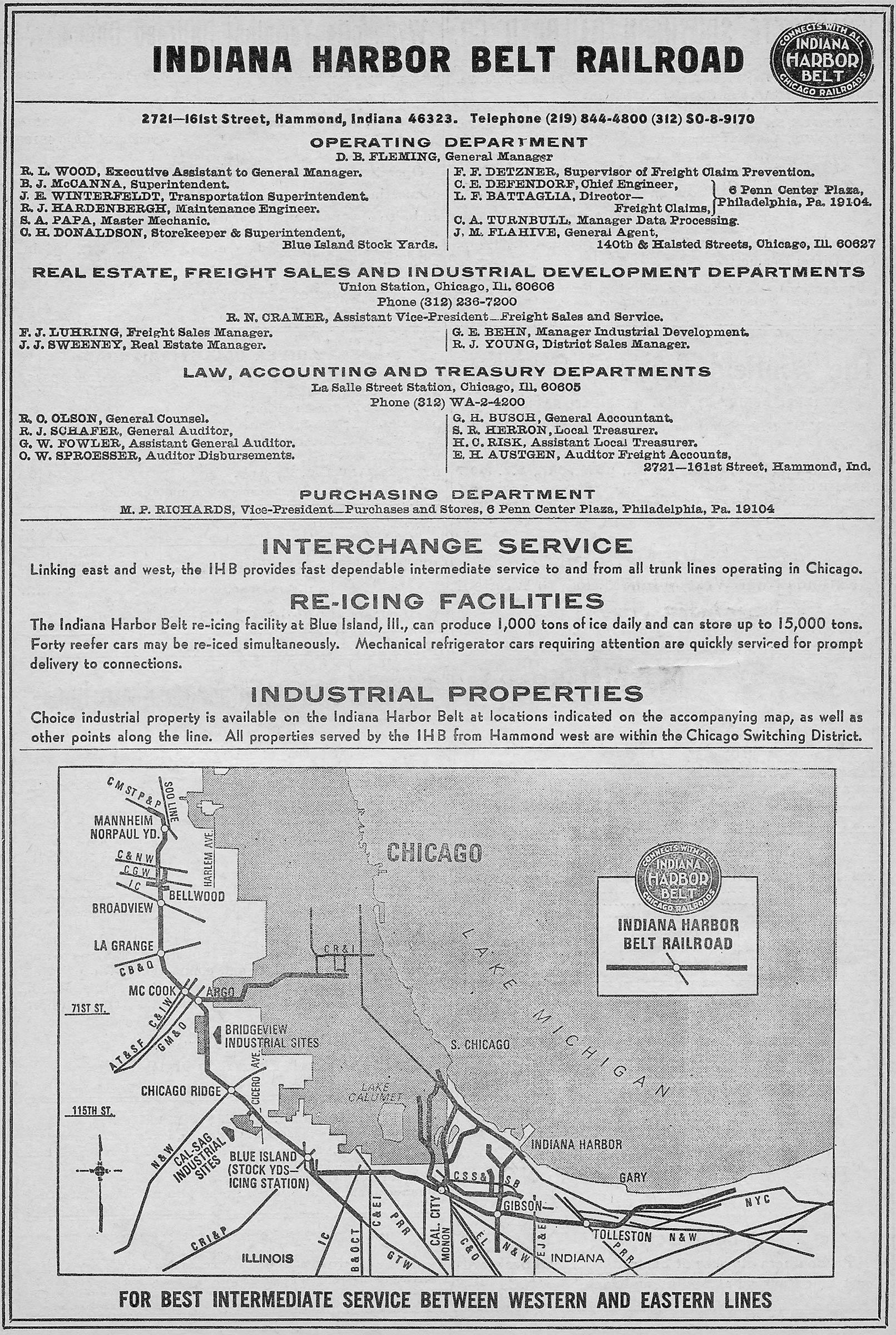 The Indiana Harbor Belt Railroad