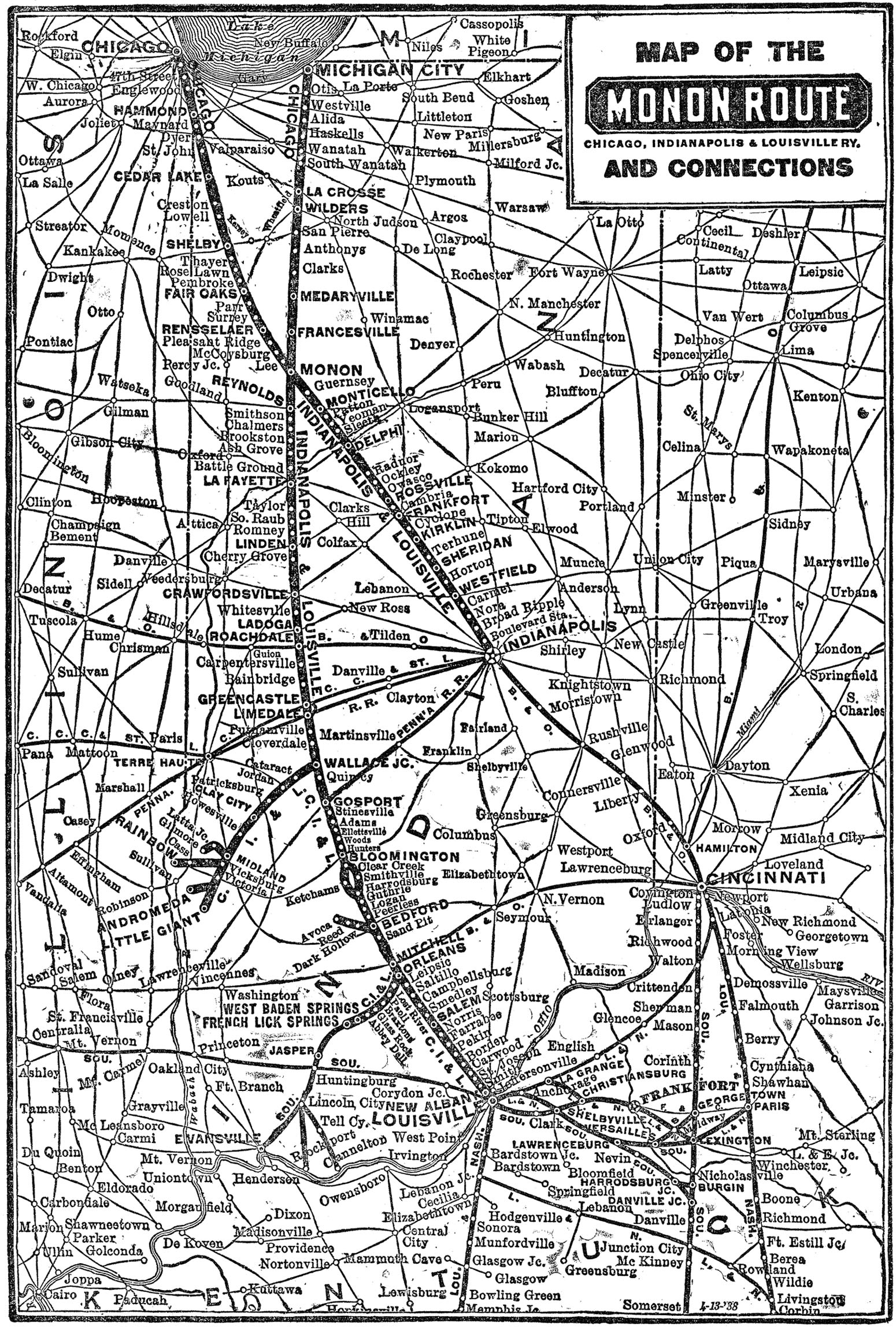 The Monon Railroad The Hoosier Line
