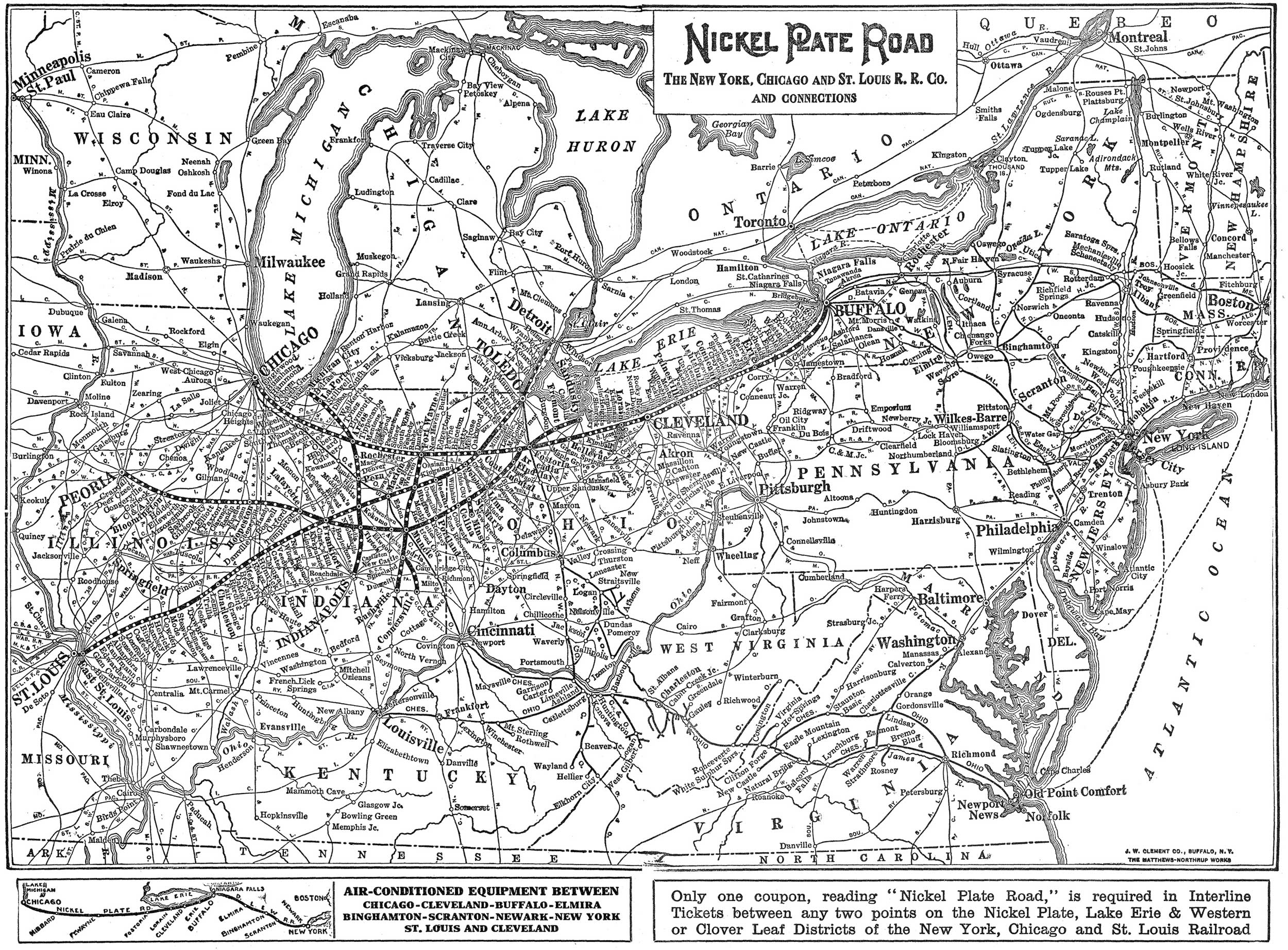 The Nickel Plate Road - Chicago map for new yorkers
