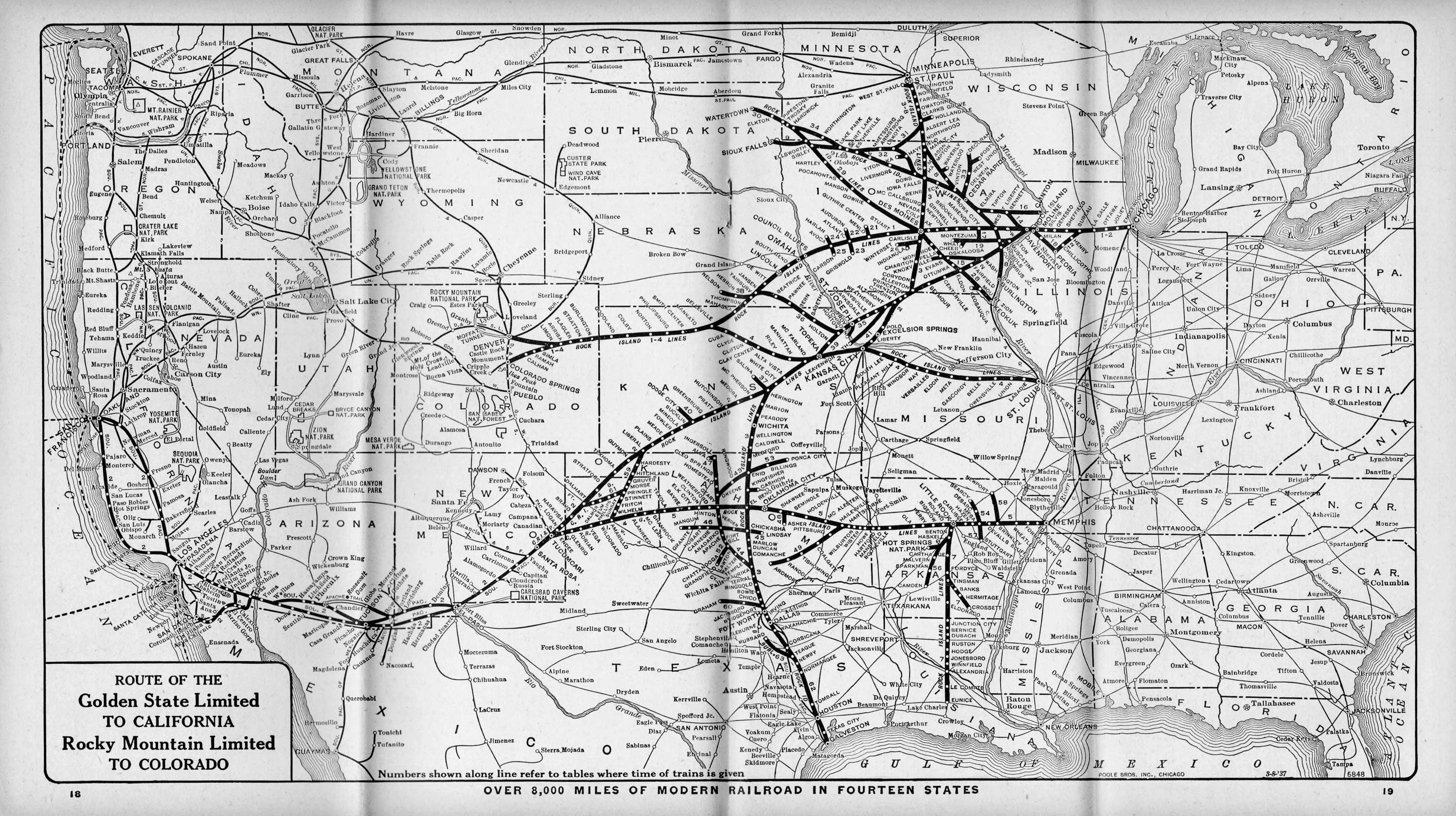 The Chicago Rock Island And Pacific Railroad - Us railroad traffic map