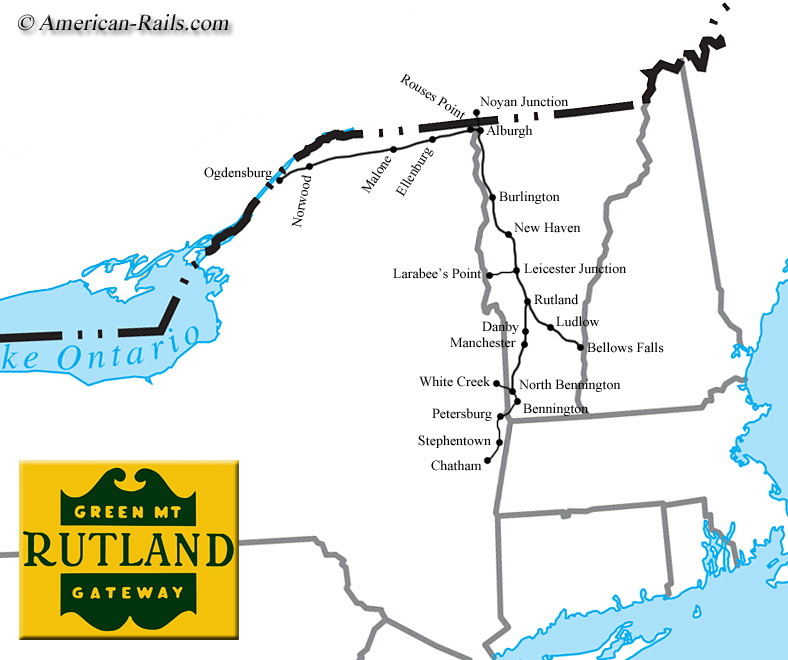 The Rutland Railroad The Green Mountain Gateway - Map of us railroads in 1900