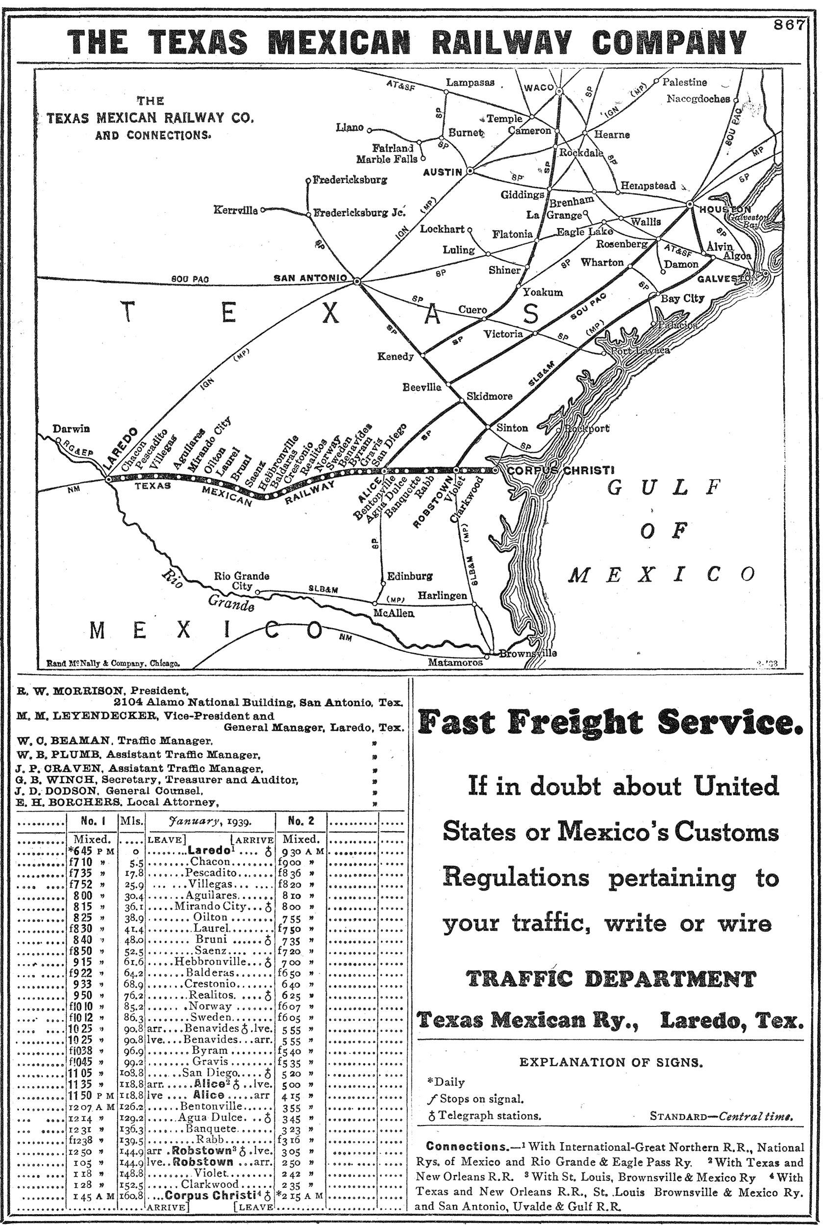 the texas mexican railway  tex