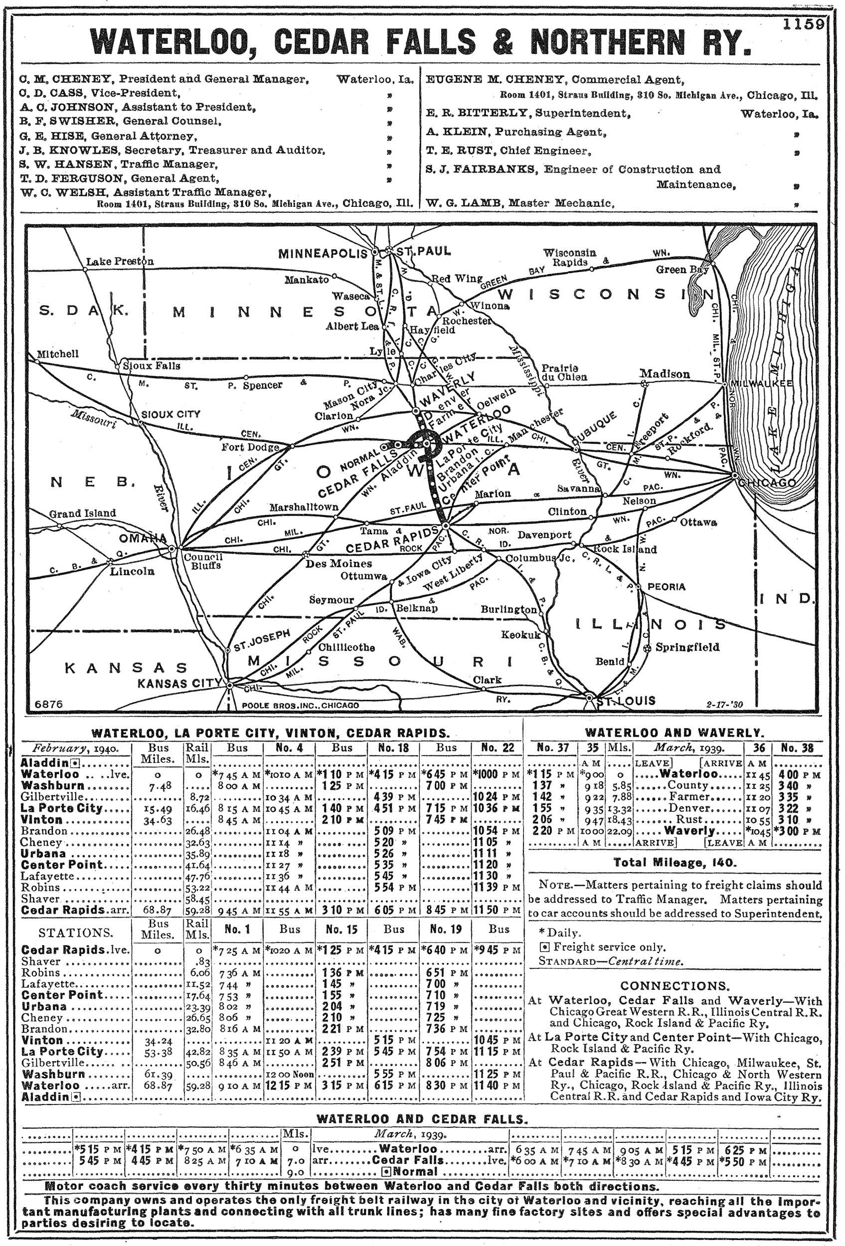 Waterloo Cedar Falls & Northern Railway