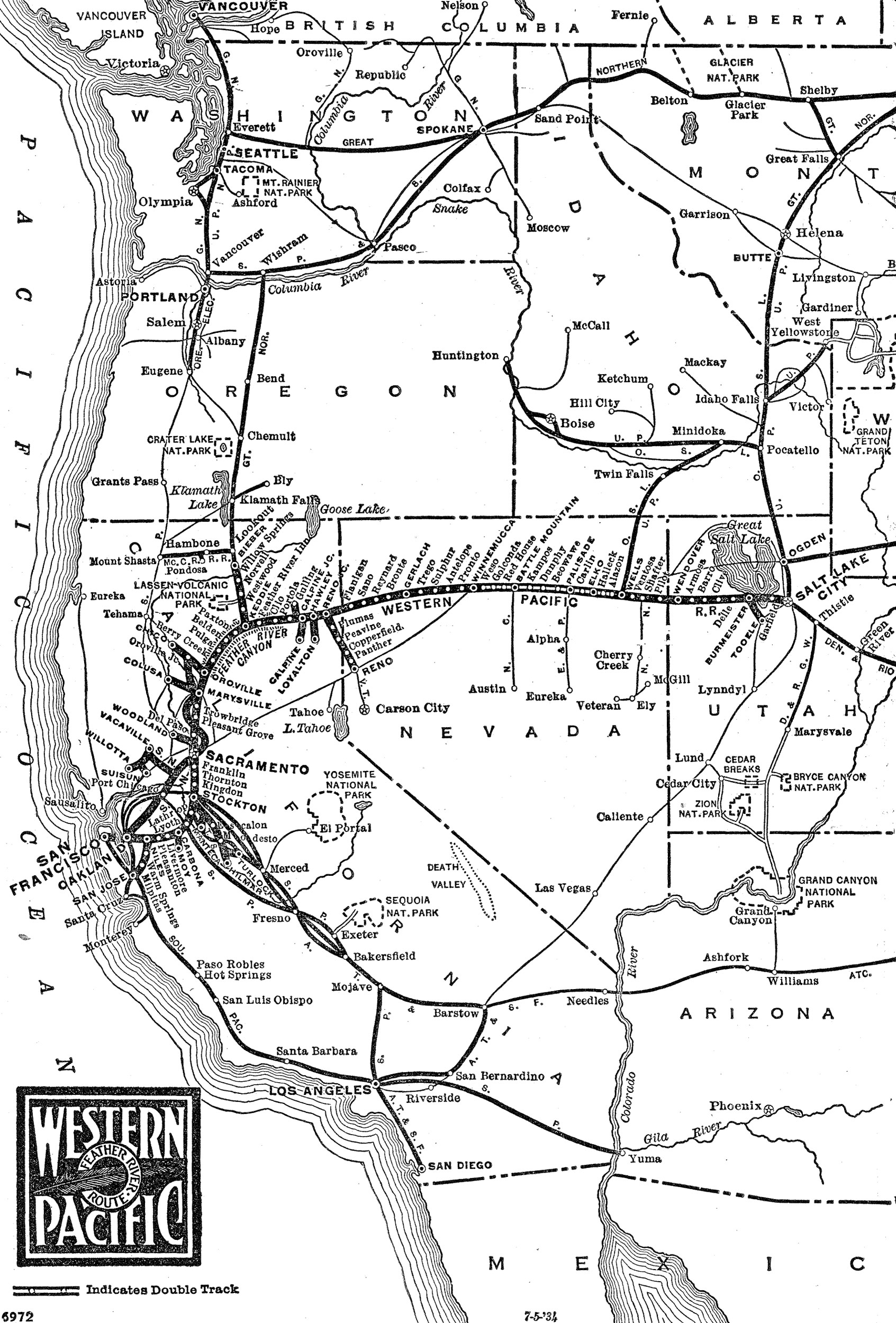 Western Pacific Railroad The Feather River Route