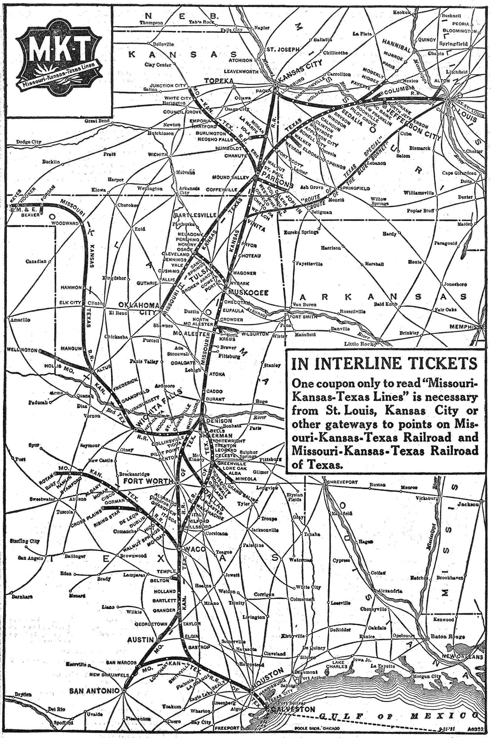 The Missouri-Kansas-Texas The Katy Railroad,